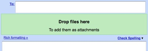 Drop files here / To add them as attachments