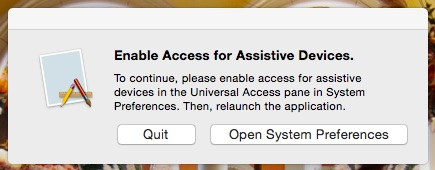 Enable Access for Assistive Devices.